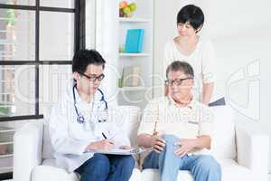 Doctor and patient healthcare concept