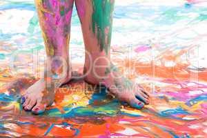 Bemalte Füße