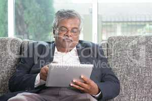 Old people using modern technology