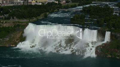niagara falls on the american side,new york,top view from skylon tower in canada