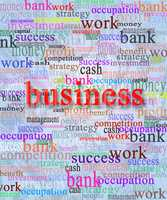 Business word with accompanying words
