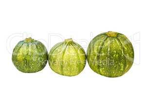 Round zucchini .