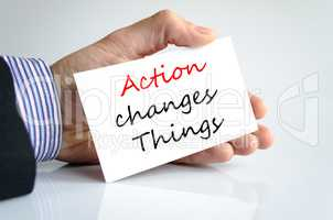 Action change things Text Concept
