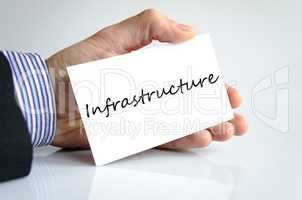 Infrastructure Text Concept