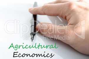 Agricultural economics Text Concept