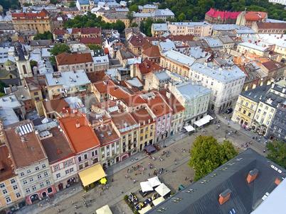 Downtown in Lviv, Ukraine
