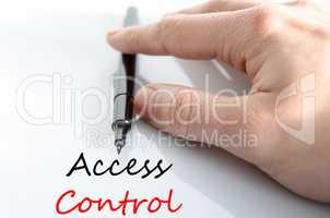 Access control Text Concept