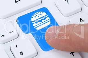 Hamburger Cheeseburger Fast Food essen online bestellen und lief