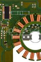 Electronic circuit board of stepper motor