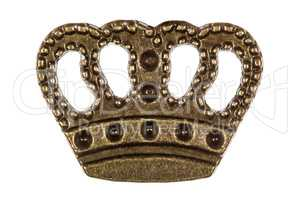 Crown, headdress of monarch, decorative element, isolated on whi