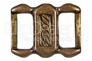 Buckle, fashion accessory, decorative element, isolated on white