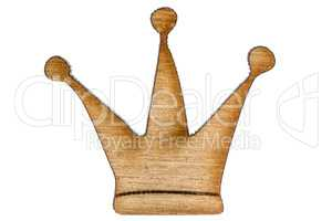 Figurine from wooden chipboard, decorative element for scrapbook
