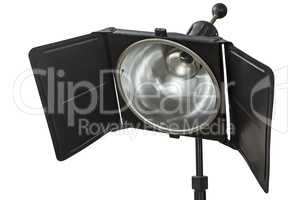 Photo studio lighting equipment, isolated on white, with clippin