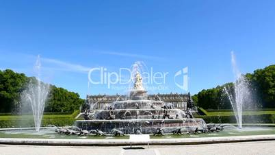 Fountain of Latona in front of Herrenchiemsee, Bavaria