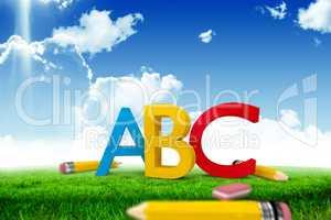 Composite image of abc graphic