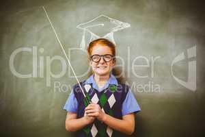 Composite image of graduation hat vector