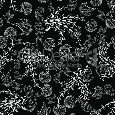 Seamless floral ornate