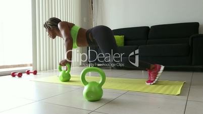 4 Home Fitness Black Woman Training With Weights At Home