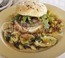 Burger with Onion Bun