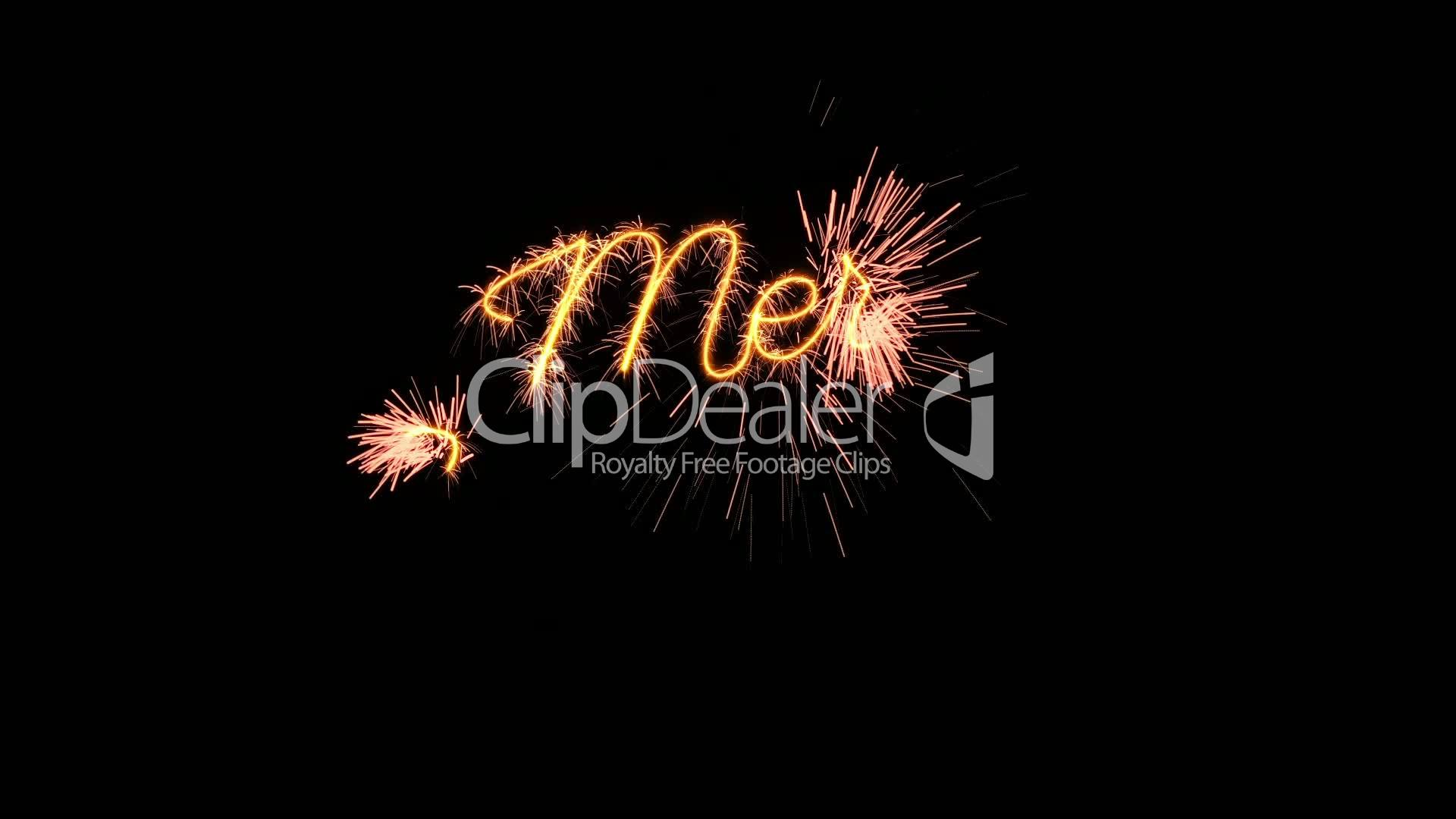 Sparkler text animation merry christmas new year greeting loopable new year m4hsunfo