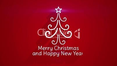 christmas holidays greeting last 5s loopable
