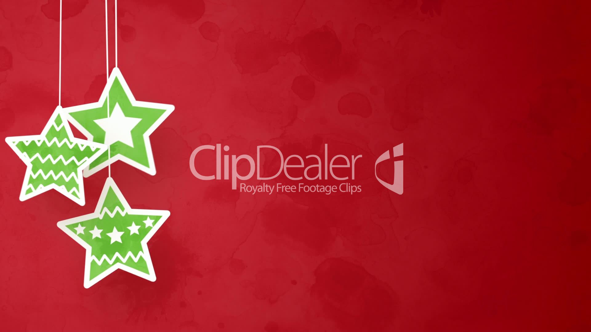 christmas stars on red loopable background: Royalty-free