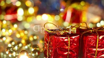 gift box and christmas decoration seamless loop