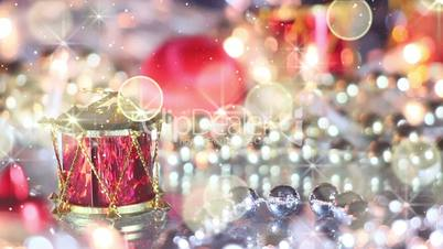 christmas decoration drum and glitter loopable