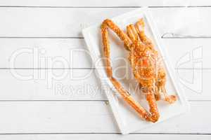 Cooked flower crab