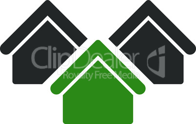 real estate--Bicolor Green-Gray.eps
