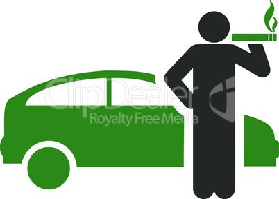 taxi driver--Bicolor Green-Gray.eps