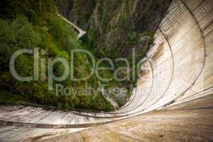 Bicaz Dam heigh seen from the top