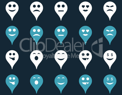 Emotion map marker icons