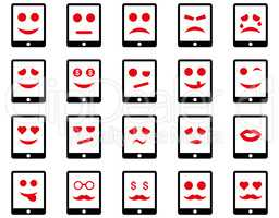 Emotion mobile tablet icons