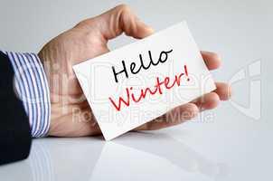 Hello winter Text Concept