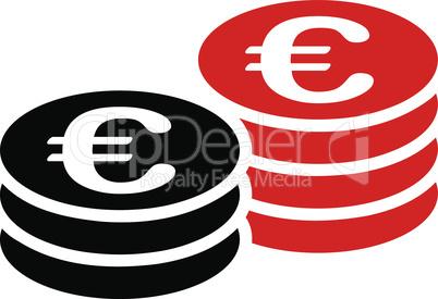 Bicolor Blood-Black--euro coin stacks.eps