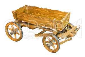 Village cart isolated on white background