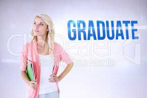 Graduate against grey background