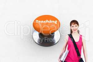 Teaching against orange push button