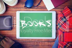 Books against green