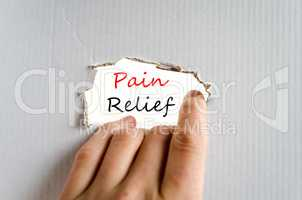 Pain relief Text Concept