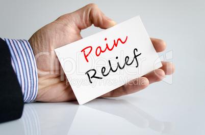 Pain relief Text Concept