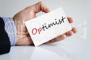 Optimist Text Concept