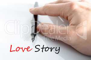 Love story Text Concept