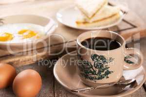 Malaysian Chinese coffee and breakfast