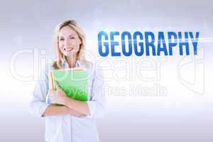 Geography against grey background