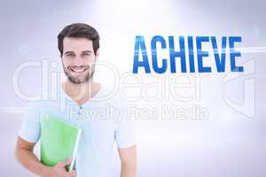 Achieve against grey background