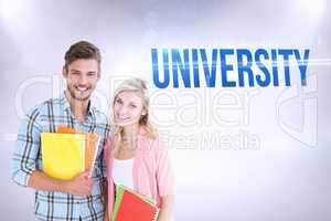 University against grey background