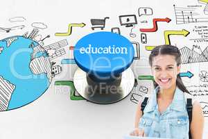 Education against blue push button