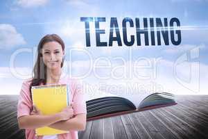 Teaching against open book against sky